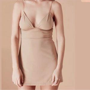 NWOT For Love And lemons Nude Slip Dress